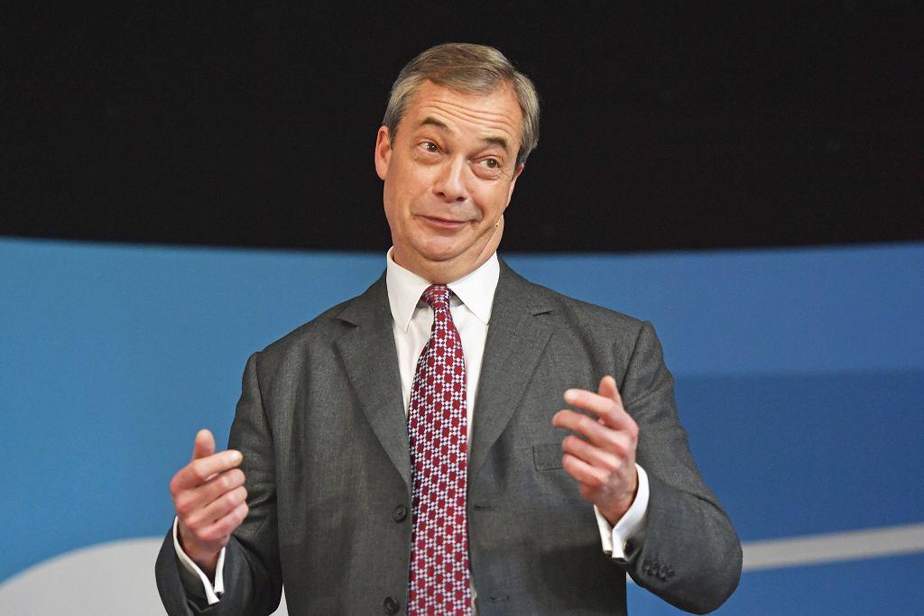 Brexit. Nigel Farage, jego Partia Brexit nie zdobyła żadnego mandatu w wyborach parlamentarnych w Wielkiej Brytanii.