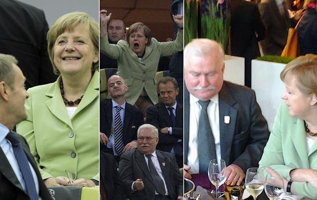 Angela Merkel biesiadowała z Lechem Wałęsą