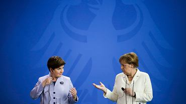 Premier Szydło i kanclerz Merkel podczas spotkania w Berlinie