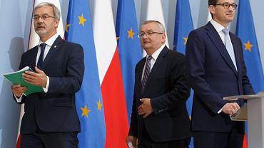 Mateusz Morawiecki, Andrzej Adamczyk i Jerzy Kwieciński