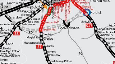 Budowa S7 pod Warszawą.