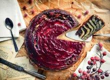 Marmurkowe ciasto serowe z malinową kuwerturą - ugotuj