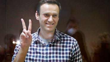 Aleksiej Nawalny podczas pokazowego procesu. Moskwa, 20 lutego 2021