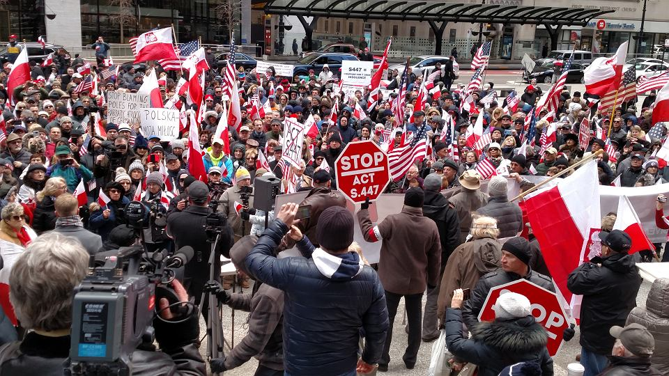 31.03.2019, Chicago, protest Polonii na Daley Plaza
