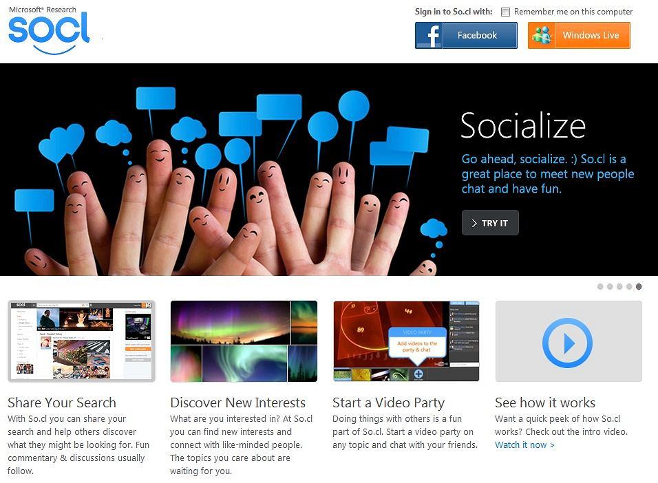So.cl, portal społecznościowy Microsoftu, przestaje istnieć