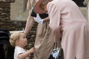 Książę George, królowa Elżbieta