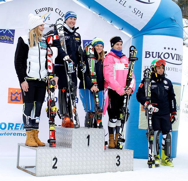 Zatłoczone podium Pucharu Europy FIS w Zakopanem. Harenda 2013