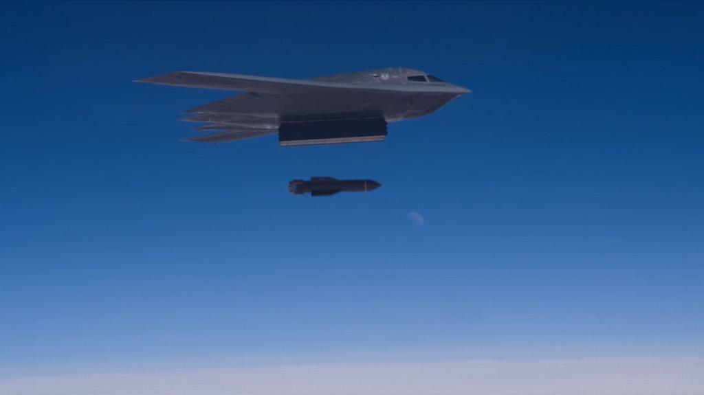 Zrzut bomby GBU-57