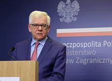 Jacek Czaputowicz o otwarciu granic: To kwestia tygodni