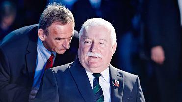Laureat pokojowej Nagrody Nobla , byly prezydent RP Lech Wałęsa i jego byly kierowca i zausznik Mieczysław Wachowski