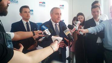 Konferencja prasowa Grzegorza Schetyny w biurze PO w Toruniu