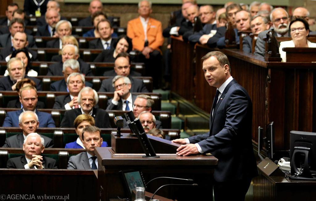 Zgromadzenie Narodowe - zaprzysiężenie prezydenta Andrzeja Dudy