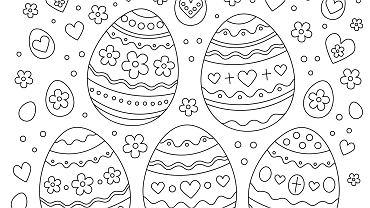 Jajka - szablon. Zdjęcie ilustracyjne