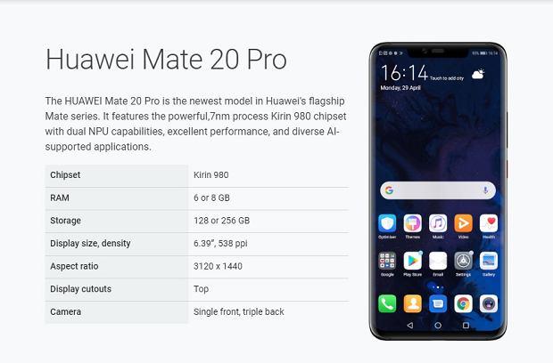 Huawei Mate 20 Pro wraca na listę urządzeń wspierających Androida Q w beta testach