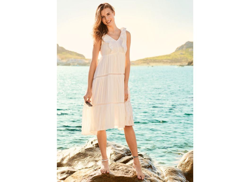 Biała sukienka Orsay lato 2020