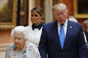 Donald Trump i Melania Trump u królowej Elżbiety II