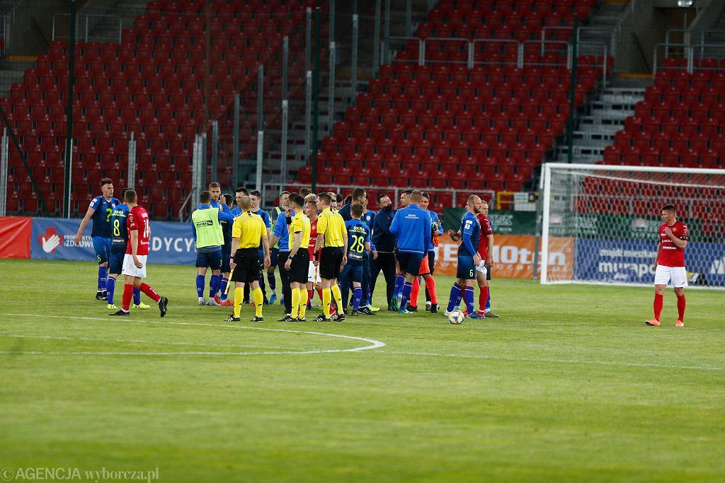 Widzew Łódź - Skra Częstochowa 1:2. Druga liga piłki nożnej