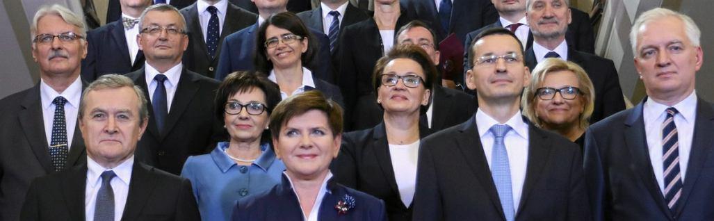 Rząd Beaty Szydło w dniu zaprzysiężenia