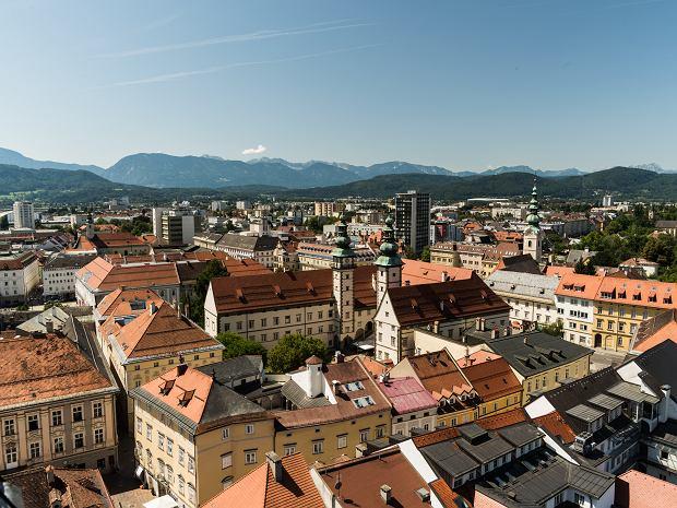 Widok na Klagenfurt z góry