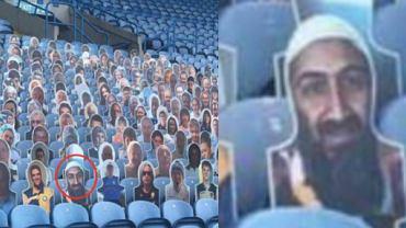 Osama bin Laden, fotografia na stadionie Leeds United. Źródło: Twitter