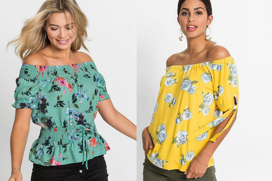 bluzki hiszpanki w kwiaty