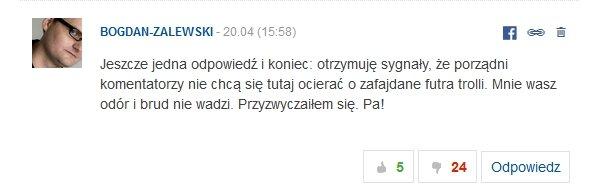 Komentarze Bogdana Zalewskiego