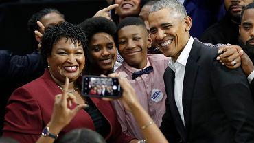 Barack Obama i demokratyczna kandydatka na gubernatora Georgii Stacey Abrams