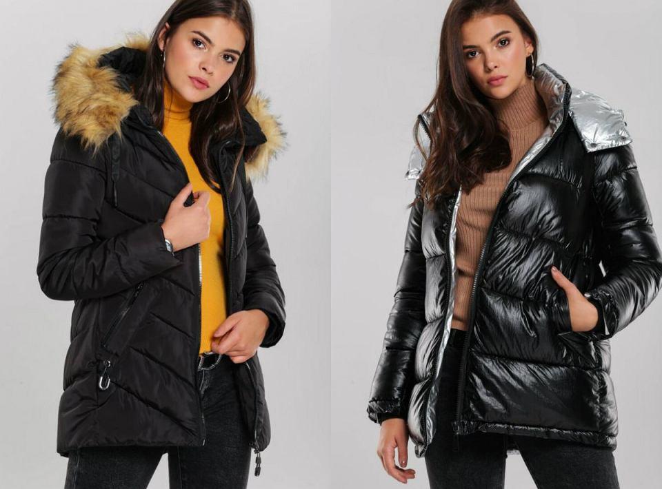 Pikowane kurtki czarne