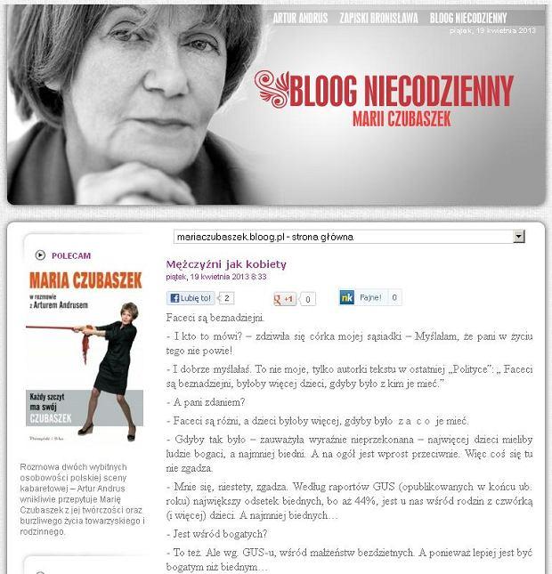 Blog Marii Czubaszek