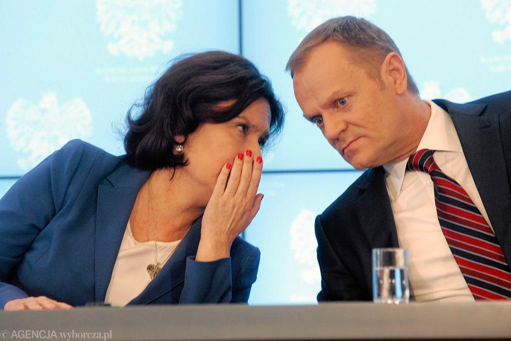 Donald Tusk i Małgorzata Kidawa-Błońska, 2014 rok