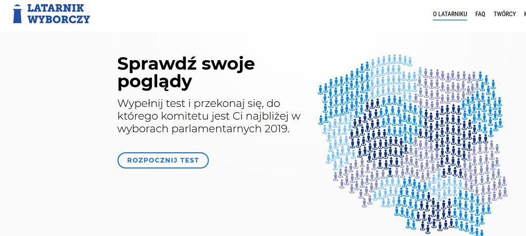 Latarnik Wyborczy (screenshot)