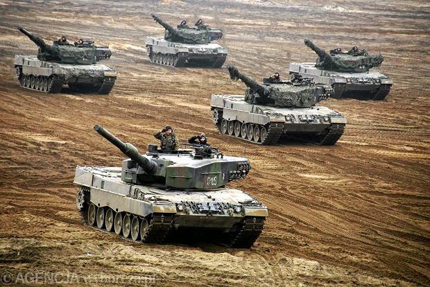 Dzień Dostojnych Gości - polskie i brytyjskie pododdziały pancerne prezentują wykonanie wspólnego zadania ogniowego - na zakończenie szkolenia 'Black Eagle' i ćwiczeń 'Ryś-14'. Świętoszów, 21 listopada 2014