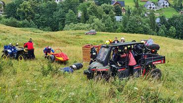 Jedna osoba została poszkodowana podczas awaryjnego lądowania balonu w rejonie Szczawnicy
