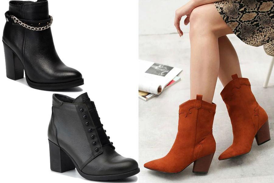 Buty zimowe damskie na słupku