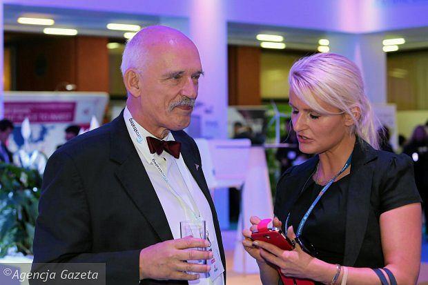 Janusz Korwin-Mikke z córką Korynną