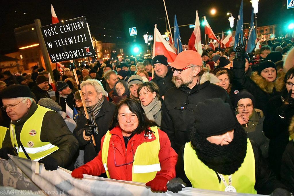 Marsz KOD w Warszawie, 13.12.2016 r. (fot. Franciszek Mazur/AG)