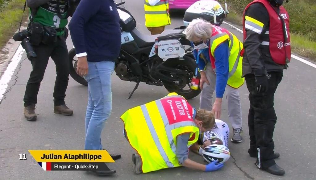 Wypadek Juliana Alaphilippe'a