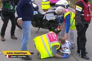Poważny wypadek kolarskiego mistrza świata. Zderzył się z motocyklistą [WIDEO]