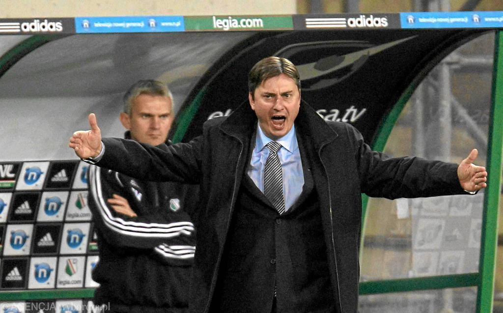Jacek Magiera i trener Maciej Skorża