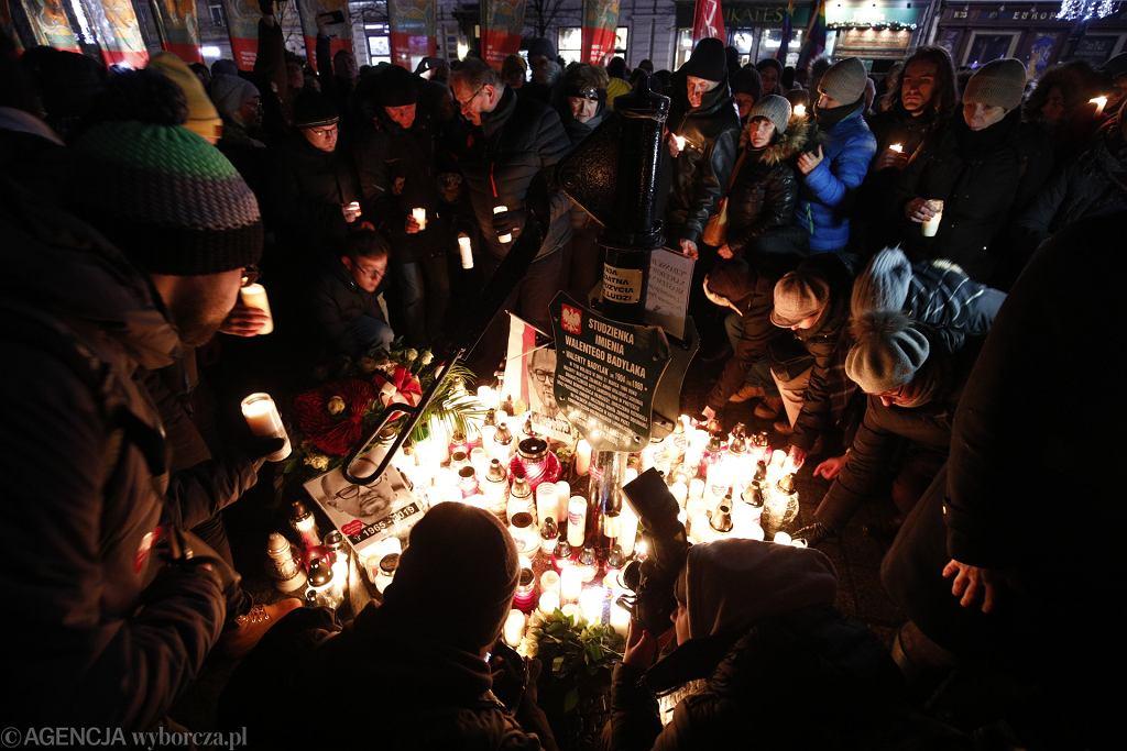 Kraków uczcił pamięć prezydenta Pawła Adamowicza