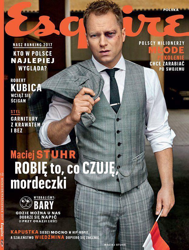 Maciej Stuhr w sesji dla Esquire