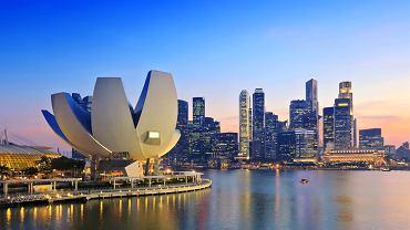 Singapur to jedna z najnowocześniejszych metropolii na świecie. Na zdjęciu, w oddali, widać dzielnicę biznesową, a na pierwszym planie fragnemnt kompleksu rekreacyjnego Marina Bay.