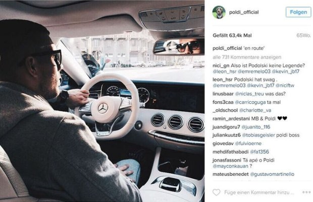 Instagram Lukasa Podolskiego