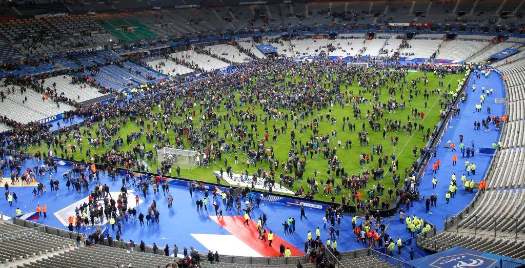 Stadion Stade de France po zakończeniu meczu Francja - Niemcy