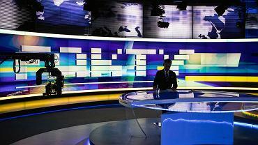 Studio TVN24 podczas programu 'Fakty'