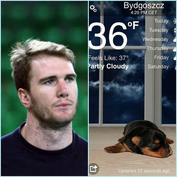 Carson Clark nie lubi polskiej zimy
