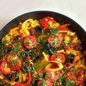 Paella z jesiennymi warzywami