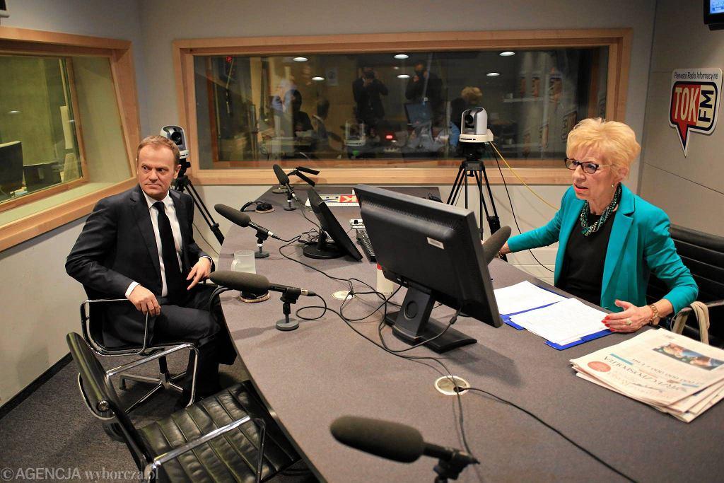 Radio TOK FM. Donald Tusk i Janina Paradowska. Wywiad z marca 2014 r.
