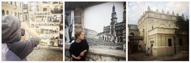 Zamość na starych fotografiach oraz synagoga i dom kahalny przy ulicy Pereca.