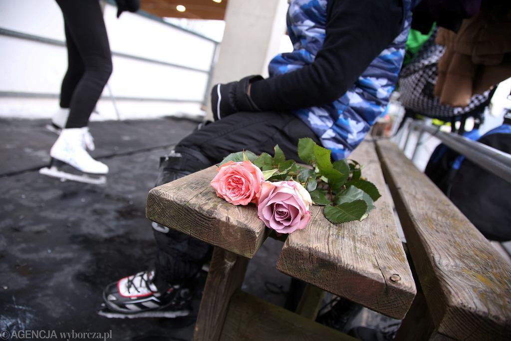 Kwiaciarnia na lodowisku w Szczecinie